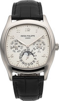 Timepieces:Wristwatch, Patek Philippe Ref. 5940G-001 Very Fine Gold Automatic Perpetual Calendar Wristwatch With Moon Phases & 24 Hour Indication. ...