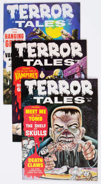 Terror Tales (Magazine) Group of 41 (Eerie Publications, 1969-79) Condition: Average FN/VF.... (Total: 41 Comic Books)