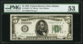Fr. 1950-F* $5 1928 Federal Reserve Note. PMG About Uncirculated 53