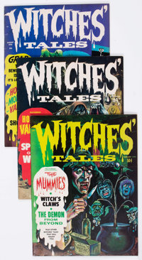 Witches Tales Group of 26 (Eerie Publications, 1970-75) Condition: Average FN.... (Total: 26 Comic Books)