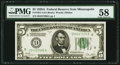 Small Size:Federal Reserve Notes, Fr. 1951-I $5 1928A Federal Reserve Note. PMG Choice About Unc 58.. ...
