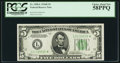 Small Size:Federal Reserve Notes, Fr. 1958-L* $5 1934B Federal Reserve Note. PCGS Choice About New 58PPQ.. ...