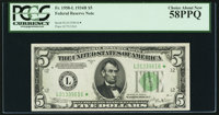 Fr. 1958-L* $5 1934B Federal Reserve Note. PCGS Choice About New 58PPQ