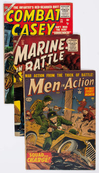 Golden Age War Related Group of 12 (Various Publishers, 1950s) Condition: Average VG.... (Total: 12 Comic Books)