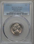 Jefferson Nickels, 1946-S 5C Doubled Die Obverse, FS-101, MS65 PCGS. PCGS Population: (12/3). NGC Census: (7/6). ...