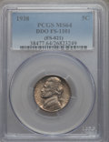 Jefferson Nickels, 1938 5C Doubled Die Obverse, FS-1101, MS64 PCGS. PCGS Population: (14/8). Mintage 19,515,364. ...