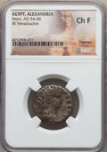 Ancients:Roman Provincial , Ancients: EGYPT. Alexandria. Nero (AD 54-68). BI tetradrachm. NGCChoice Fine....