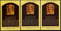 Baseball Collectibles:Others, Sandy Koufax Signed Yellow HOF Postcard Lot of 3....