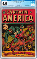 Golden Age (1938-1955):Superhero, Captain America Comics #19 (Timely, 1942) CGC VG 4.0 Cream tooff-white pages....