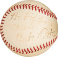 "Baseball Collectibles:Balls, 1940-41 Babe Ruth Single Signed Baseball with ""Best of Luck""Inscription...."