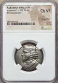 Ancients:Oriental, Ancients: PARTHIAN KINGDOM. Vardanes I (ca. AD 38-46). BI tetradrachm. NGC Choice VF, lt. graffito....