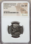 Ancients:Oriental, Ancients: PARTHIAN KINGDOM. Gotarzes II (ca. AD 44-51). BI tetradrachm. NGC Choice VF, graffito....