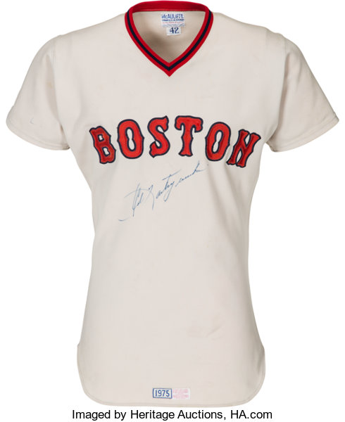 size 40 dee14 92f04 1975 Carl Yastrzemski Game Worn & Signed Boston Red Sox ...