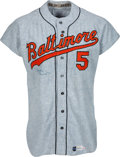 Baseball Collectibles:Uniforms, 1971 Brooks Robinson Game Worn Baltimore Orioles Jersey, MEARSA9.5....