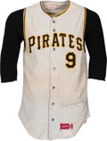 Baseball Collectibles:Uniforms, 1969 Bill Mazeroski Game Worn Pittsburgh Pirates Jersey, MEARS A9....