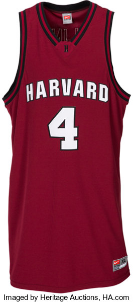 dac762e266a Basketball Collectibles:Uniforms, 2008-09 Jeremy Lin Game Worn Harvard  Crimson Jersey.