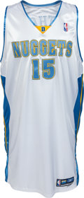 Basketball Collectibles:Uniforms, 2005-06 Carmelo Anthony Game Worn, Signed Denver Nuggets Jersey....