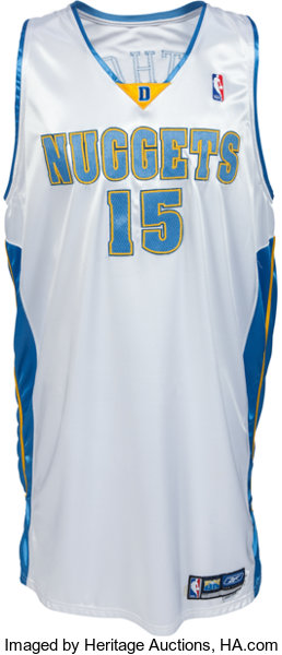 new style efb31 89b2e 2005-06 Carmelo Anthony Game Worn, Signed Denver Nuggets ...