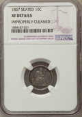 Bust Dimes, 1837 10C -- Improperly Cleaned -- NGC Details. XF. NGC Census: (11/115). PCGS Population: (18/162). CDN: $220 Whsle. Bid fo...