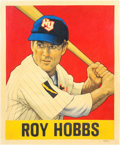 "Baseball Collectibles:Others, 2016 Roy Hobbs ""Card that Never Was"" Original Artwork by Arthur Miller...."