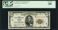 Fr. 1850-G* $5 1929 Federal Reserve Bank Note. PCGS Very Fine 30