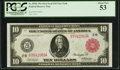Large Size:Federal Reserve Notes, Fr. 893b $10 1914 Red Seal Federal Reserve Note PCGS About New 53.. ...