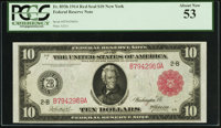 Fr. 893b $10 1914 Red Seal Federal Reserve Note PCGS About New 53