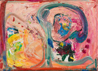Hans Hofmann (1880-1966) Pink Phantasie, 1950 Oil on panel 14-1/4 x 20-1/4 inches (36.2 x 51.4 cm
