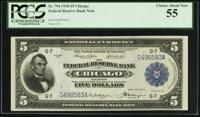 Fr. 794 $5 1918 Federal Reserve Bank Note PCGS Choice About New 55
