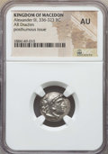 Ancients:Greek, Ancients: MACEDONIAN KINGDOM. Alexander III the Great (336-323 BC).AR drachm. NGC AU....