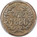 Coins of Hawaii , 1880 TOKEN Wailuku Plantation Half Real AU55 PCGS....