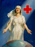 Mainstream Illustration, Haddon Hubbard Sundblom (American, 1899-1976). Red Cross Nurse,World War II poster. Oil on canvas laid on board with pa...