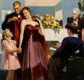 Mainstream Illustration, Andrew Loomis (American, 1892-1959). Mother in Law, Ladies HomeJournal interior illustration, June 1939. Oil on canvas...