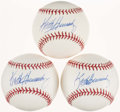 Autographs:Baseballs, Keith Hernandez Single Signed Baseballs Lot of 3. ...