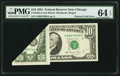 Error Notes:Foldovers, Fr. 2025-G $10 1981 Federal Reserve Note. PMG Choice Uncirculated64 EPQ.. ...
