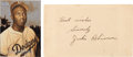 Baseball Collectibles:Others, 1949 Jackie Robinson Signed Government Postcard....