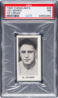 Baseball Cards:Singles (Pre-1930), 1928 Yuengling's Ice Cream Lou Gehrig #26 PSA NM 7....