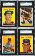 Baseball Cards:Sets, 1958 Topps Baseball Complete Set (494) Plus 4 Contest Cards. ...