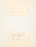 Football Collectibles:Others, 1959 Baltimore Colts Signed Government Postcards & Photographs. ...
