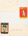 Baseball Collectibles:Others, 1959 New York Yankees Signed Government Postcards. ...