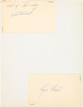 Baseball Collectibles:Others, 1959 Kansas City Athletics Signed Government Postcards &Photographs. ...