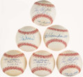 Autographs:Baseballs, St. Louis Cardinals Greats Signed Baseball Collection (6) - Including Musial, Slaughter, and Schoendienst. ...