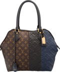 Luxury Accessories:Bags, Louis Vuitton Limited Edition Black & Marine Monogram Empreinte Leather and Classic Monogram Canvas Blocks Zip Tote Bag. V...