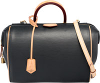 """Louis Vuitton Black Epi Leather Doc PM Bag Very Good to Excellent Condition 11.5"""" Width x 9.5"""" Height x 5""""..."""