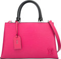 "Luxury Accessories:Bags, Louis Vuitton Hot Pink & Black Epi Leather Kleber PM Bag.Excellent to Pristine Condition. 12"" Width x 7.5"" Heightx 4..."