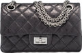 "Luxury Accessories:Bags, Chanel Black Quilted Distressed Lambskin Leather Reissue Mini Flap Bag. Excellent to Pristine Condition. 8"" Width x 4""..."
