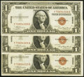 Small Size:World War II Emergency Notes, Fr. 2300 $1 1935A Hawaii Silver Certificates. Three Consecutive Examples. Crisp Uncirculated.. ... (Total: 3 notes)