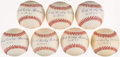 "Autographs:Baseballs, Ewell ""The Whip"" Blackwell Single Signed Baseball Collection (7) -With Inscription...."
