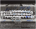 Autographs:Photos, 1978 New York Yankees World Series Champions Team Signed OversizedPhoto (21 Signatures). ...