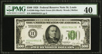 Fr. 2200-H $500 1928 Federal Reserve Note. PMG Extremely Fine 40